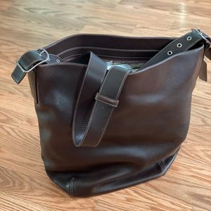 Large Brown Leather Coach Purse